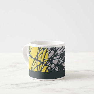 Nest, yellow and gray espresso mug