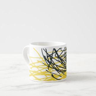 Nest, yellow and white espresso mug