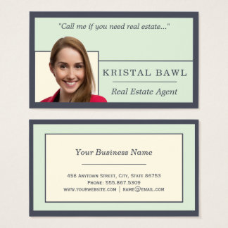 Nested Real Estate Template Indigo Ivory Hues Business Card