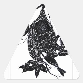 nesting 3 triangle sticker