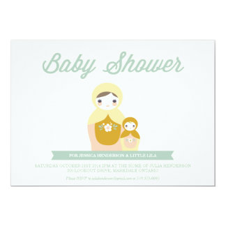 Nesting Doll Baby Shower Invitation
