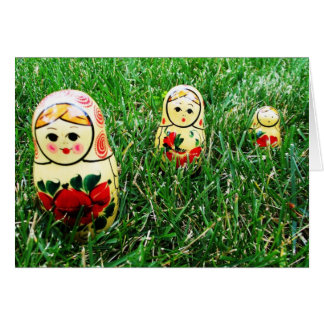 Nesting Dolls Ukrainian Folk Art Card