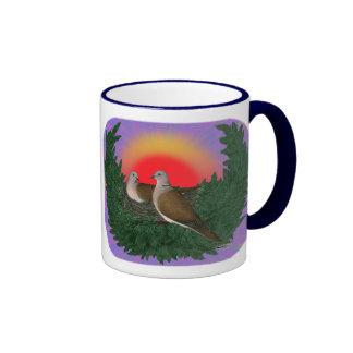 Nesting Doves Ringer Coffee Mug
