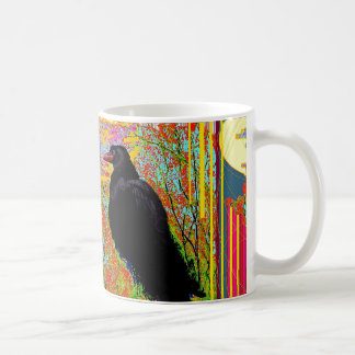 Nesting Red-billed Crow Abcstact Gifts Coffee Mug