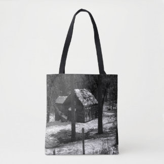 Nestled in the woods... tote bag