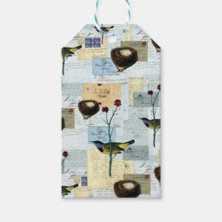 Nests and small birds gift tags