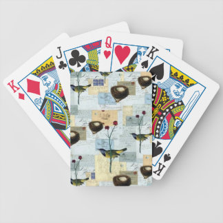 Nests and small birds - Letters of Poker Bicycle Playing Cards