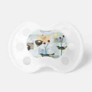 Nests and small birds pacifier