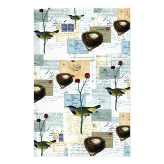 Nests and small birds stationery