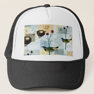 Nests and small birds trucker hat