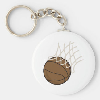 Net and Basketball Keychain