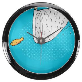 Net Fish Aqua Clock