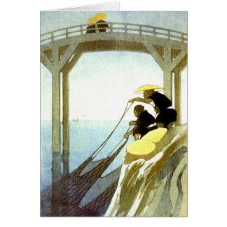 Net Fishing 1913 Greeting Card