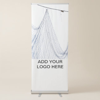 Net hanging with sky in the background retractable banner