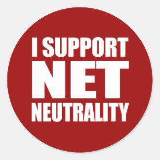Net Neutrality Classic Round Sticker