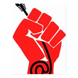 Net Neutrality Fist Postcard