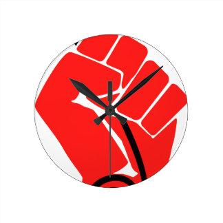 Net Neutrality Fist Round Clock