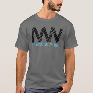 Net Neutrality Now - Black Netting T-Shirt