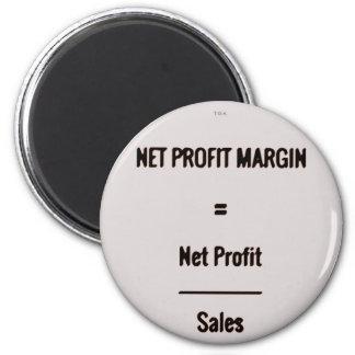 """""""Net Profit Margin"""" 2 Inch Round Magnet"""