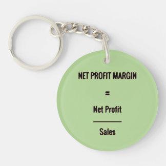 """""""Net Profit Margin"""" Double-Sided Round Acrylic Keychain"""