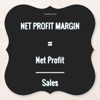 """Net Profit Margin"" Paper Coaster"