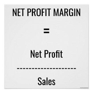"""Net Profit Margin"" Perfect Poster"