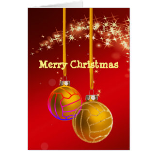 Netball Ball Themed Christmas Greeting Card