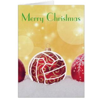 Netball Ball Themed Christmas Greeting Card