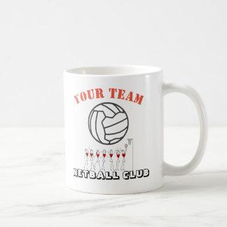 Netball Ball Themed Team Name Personalised Coffee Mug