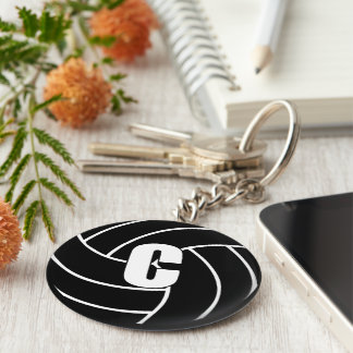 Netball Center C Key Ring