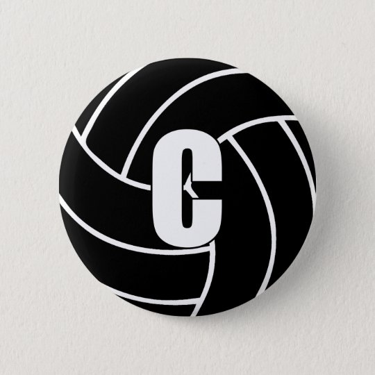 Netball Centre C 2 Inch Round Button
