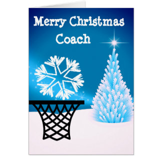Netball Coach Christmas Greeting Card