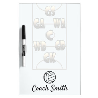 Netball Coach Personalised Dry Erase Board