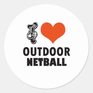 Netball design classic round sticker