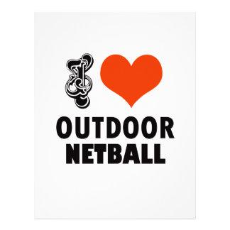 Netball design letterhead