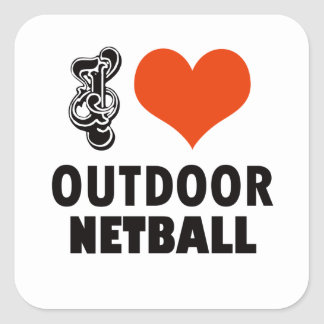 Netball design square sticker