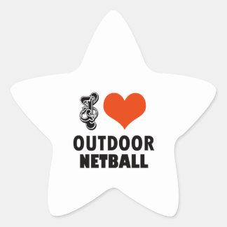 Netball design star sticker