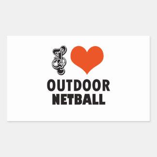 Netball design sticker