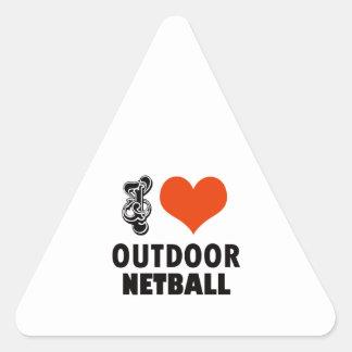 Netball design triangle sticker