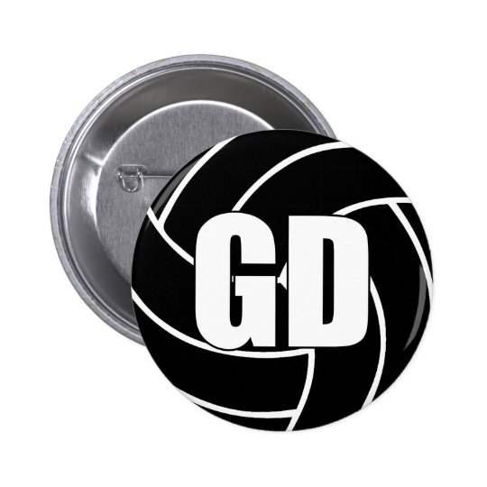 Netball Goal Defence GD 2 Inch Round Button