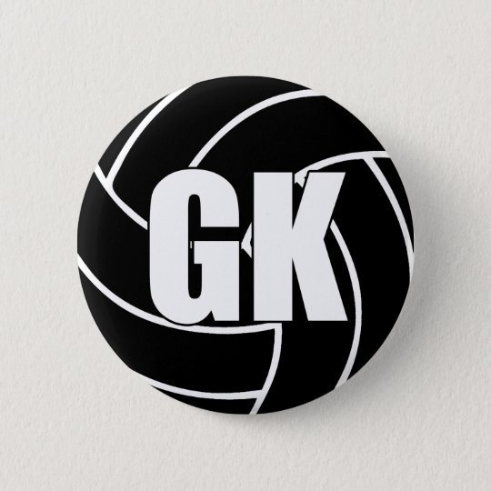 Netball Goal Keeper GK 2 Inch Round Button