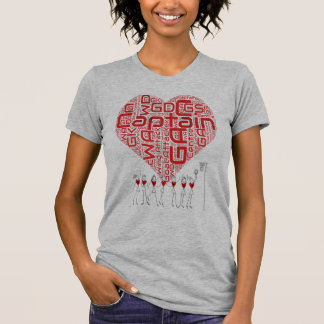 Netball Heart and Positions Design T-Shirt