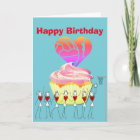 Netball Heart and Positions Happy Birthday Card