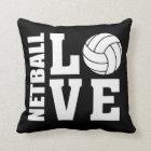 Netball Love Black Netball Throw Pillow