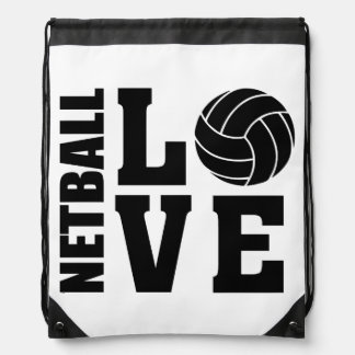 Netball Love, Netball Drawstring Bag