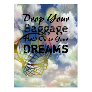 Netball Picture and Inspirational Dreams Quote Postcard