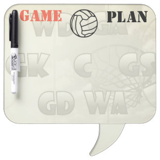 Netball Player Positions and Ball Design Dry Erase Board