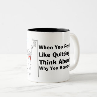 Netball Player Positions and Motivational Quote Two-Tone Coffee Mug