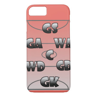 Netball Player Positions Custom Colour Case-Mate iPhone Case