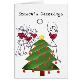 Netball Player Positions Theme Christmas Card